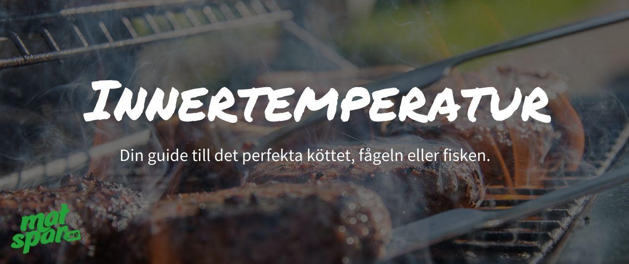 Innertemperatur: Kyckling, fisk, nötkött, fläsk & mycket mer!