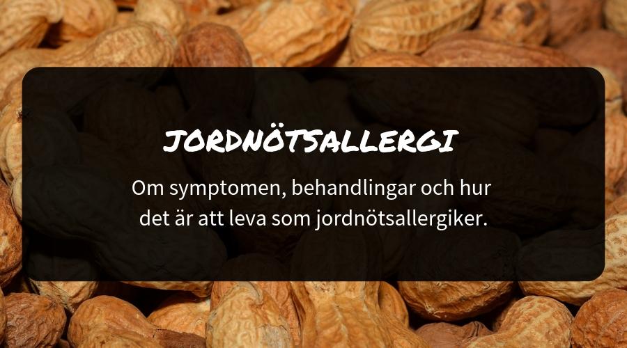 allergi jordnötter symptom